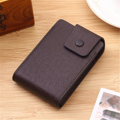 Quality PU Leather Made, Multi-Functional Mini Card Wallet Holder For Men and Women with 10 Card Slots - BiggShopp.com