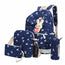 Beautiful Cartoon Rabbit Printing Backpack Set | 4 Pcs