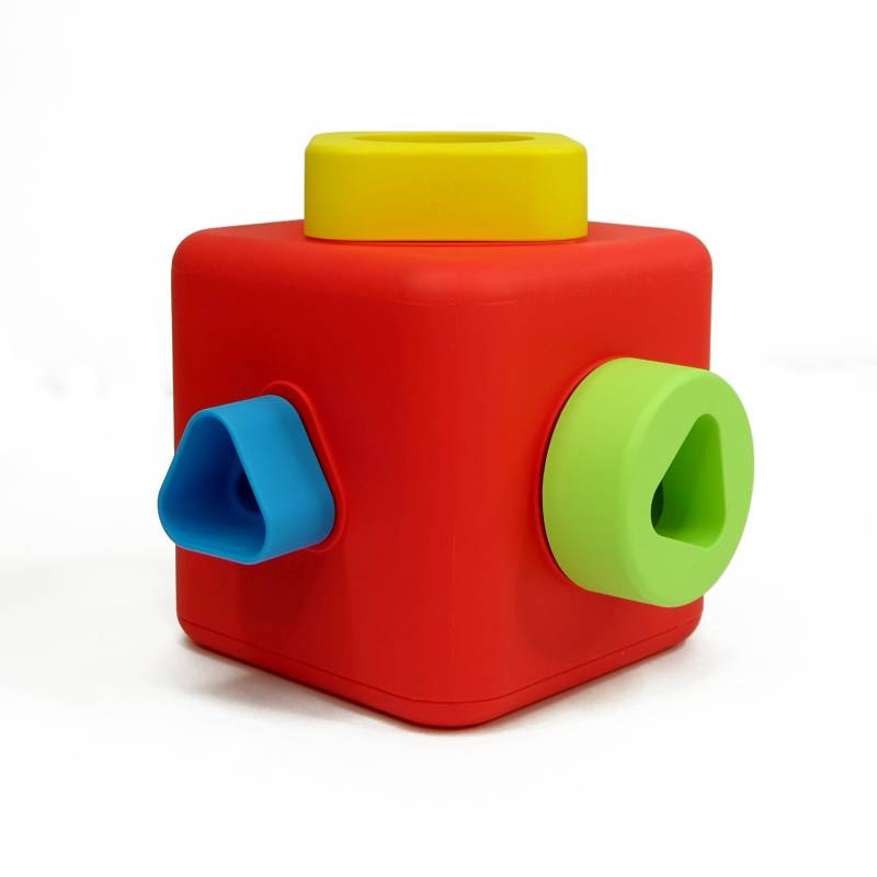 Shape Sorting Amp Stacking Cube Safe And Eco Baby Toy Made