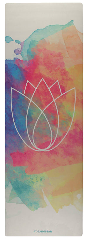 "Lotus Pastel <br><span class=""free-promo"">Yoga Mat + Free Yoga Bag</span>"