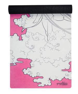 pink travel yoga mat