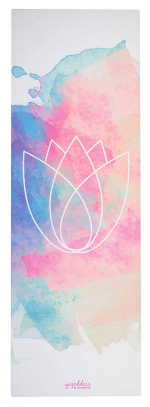 "Lotus Pastel <br><span class=""free-promo"">Yoga Travel Mat + Free Yoga Bag</span>"