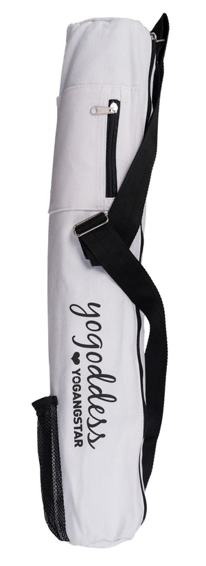 white yoga bag