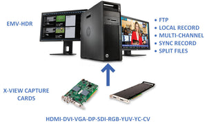 EMV-HDR Multichannel Video Recording Software