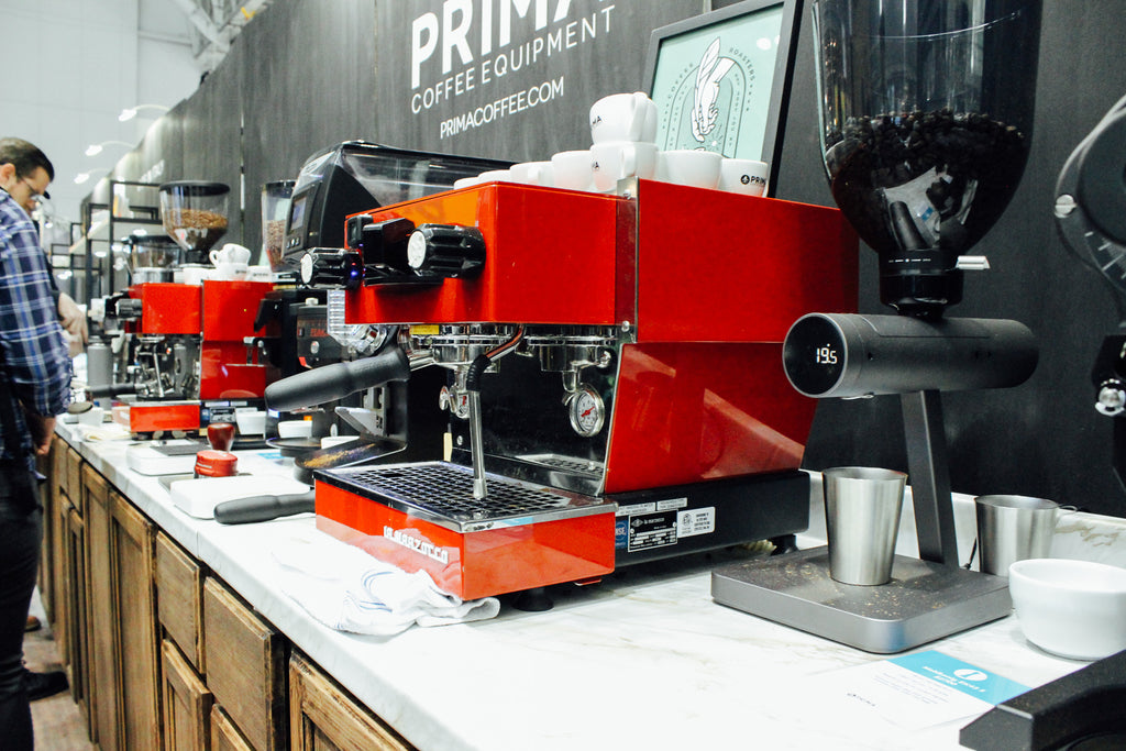 Prima Coffee's booth