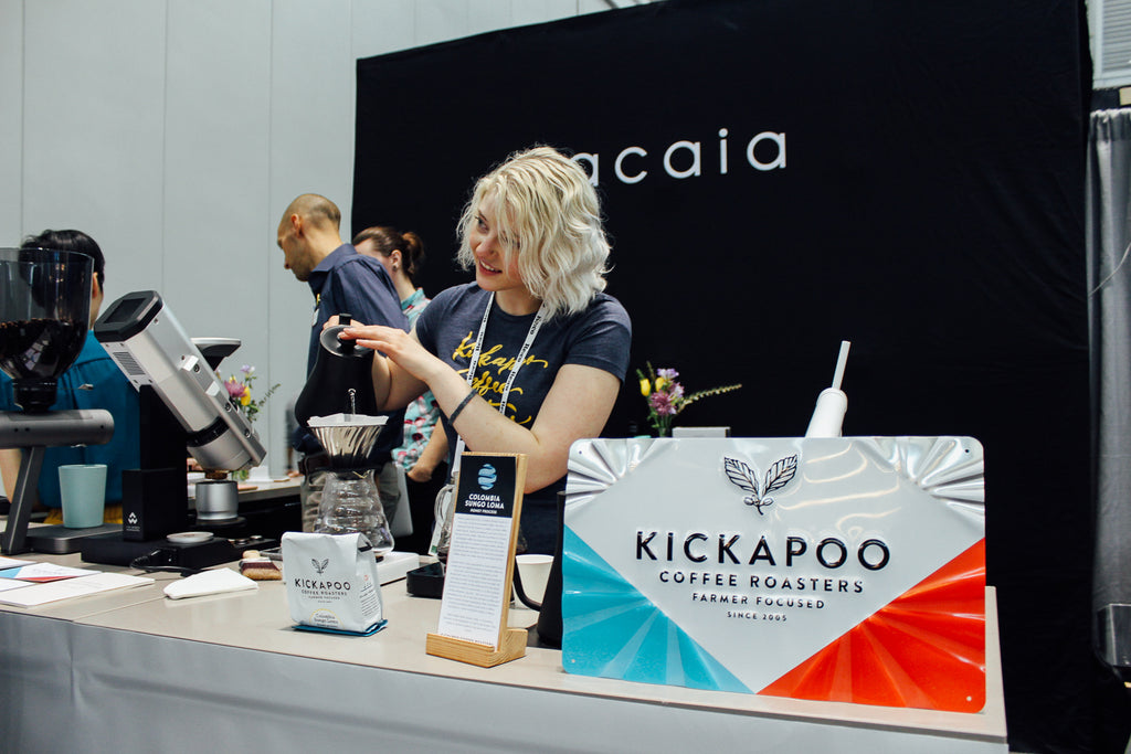 Kickapoo coffee on our booth
