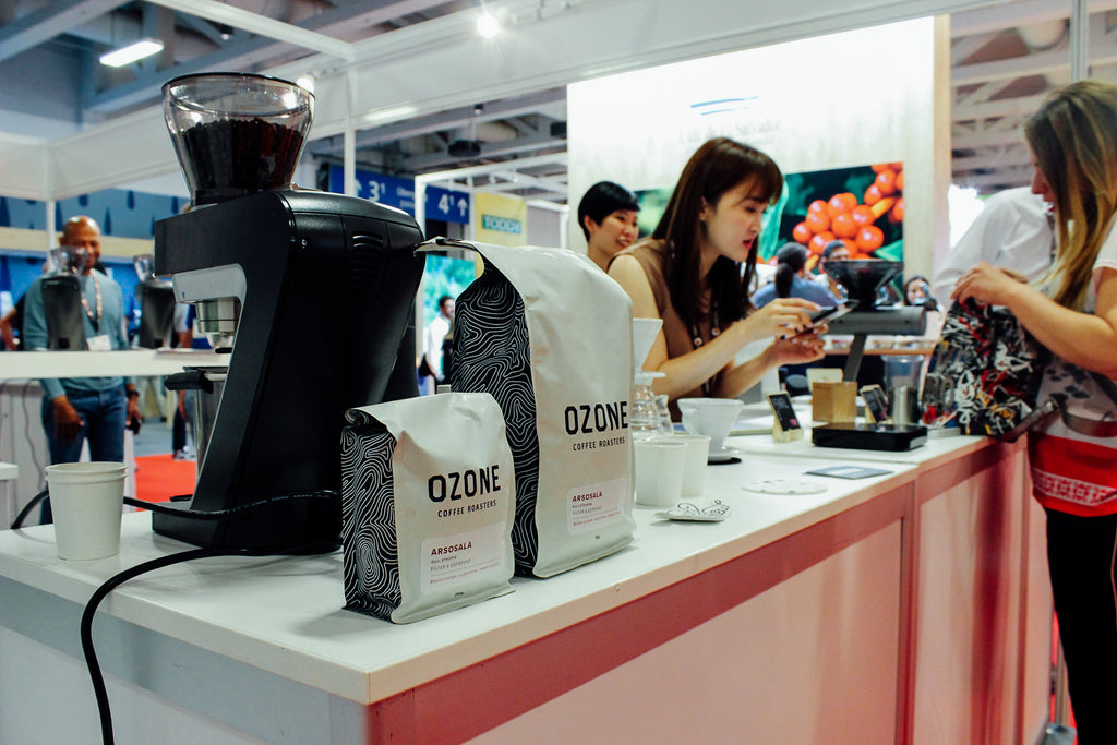 Ozone Coffee on the bar