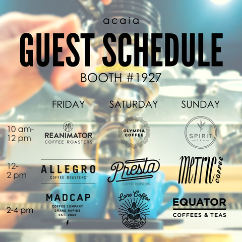 acaia expo guest schedule