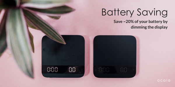 acaia lunar firmware update battery saving