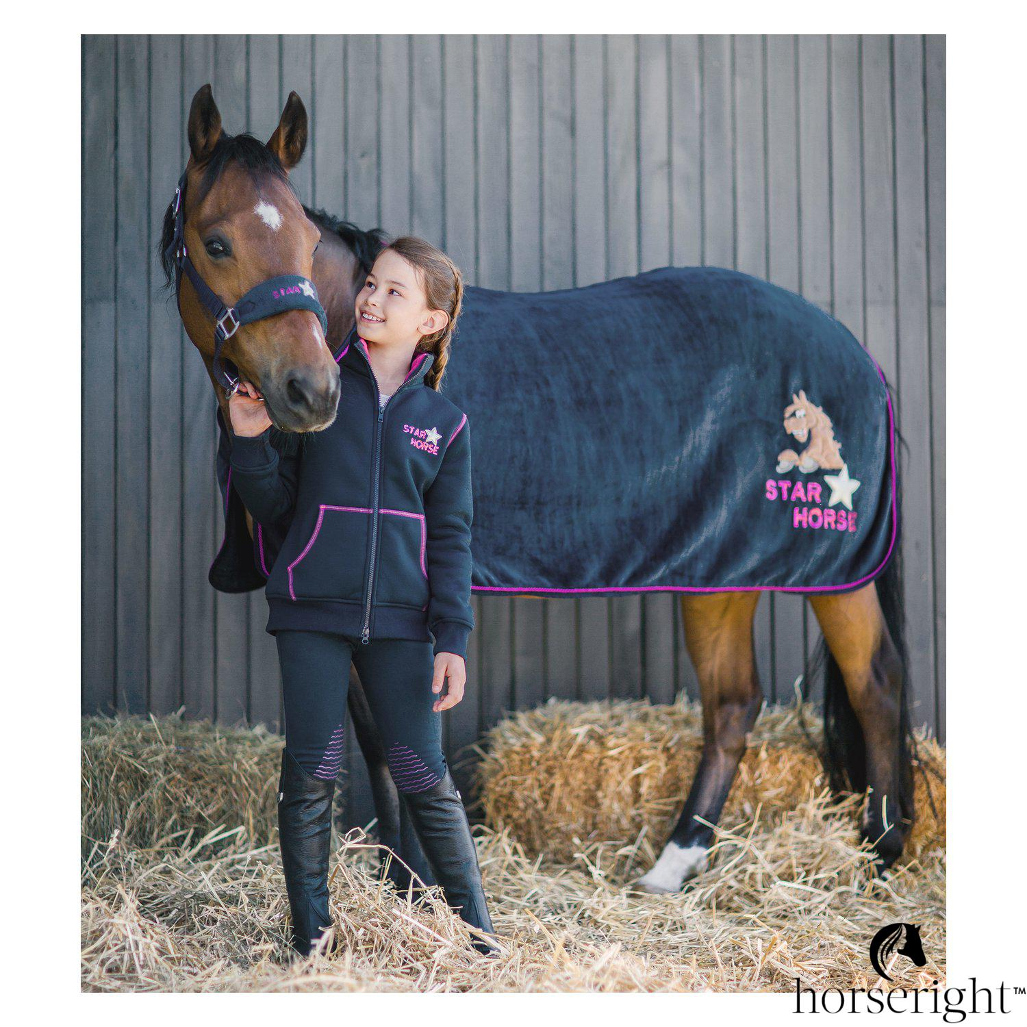 Black Forest Star Horse Fleece Jacket