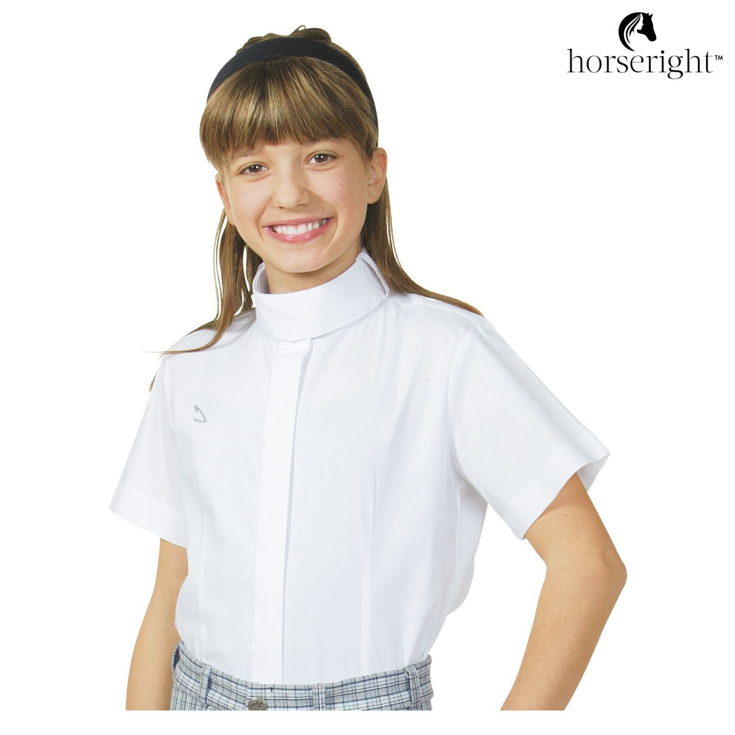 Black Forest Riding Blouse With Stand-Up Collar For Children