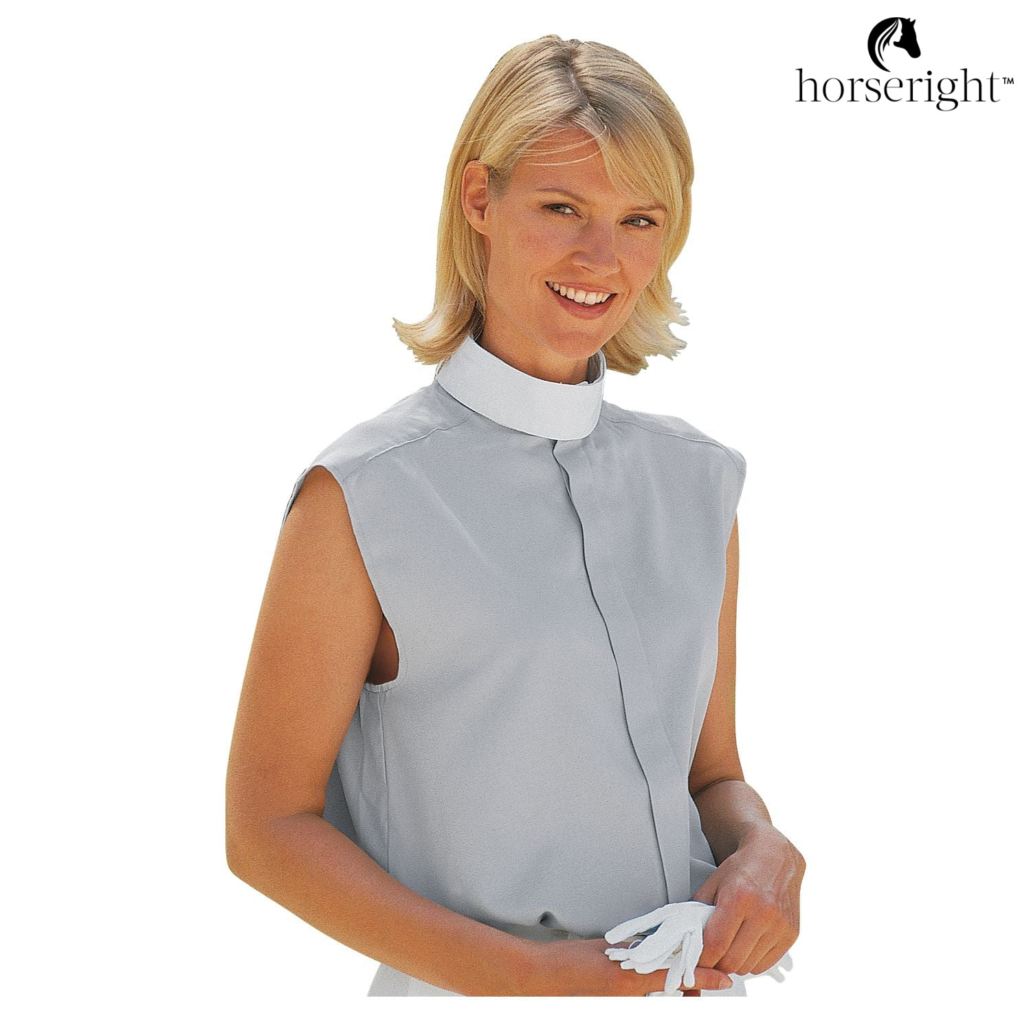 Black Forest Women's Riding Blouse With Stand-Up Collar