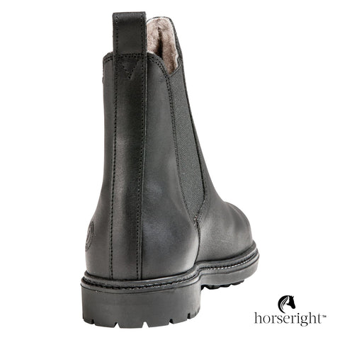Black Forest Fatty Leather Riding Boots With Lambskin