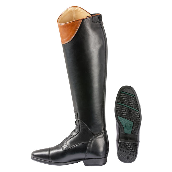 Loesdau New Porto Jump Soft Leather Riding Boots - Cognac Leather Cuff