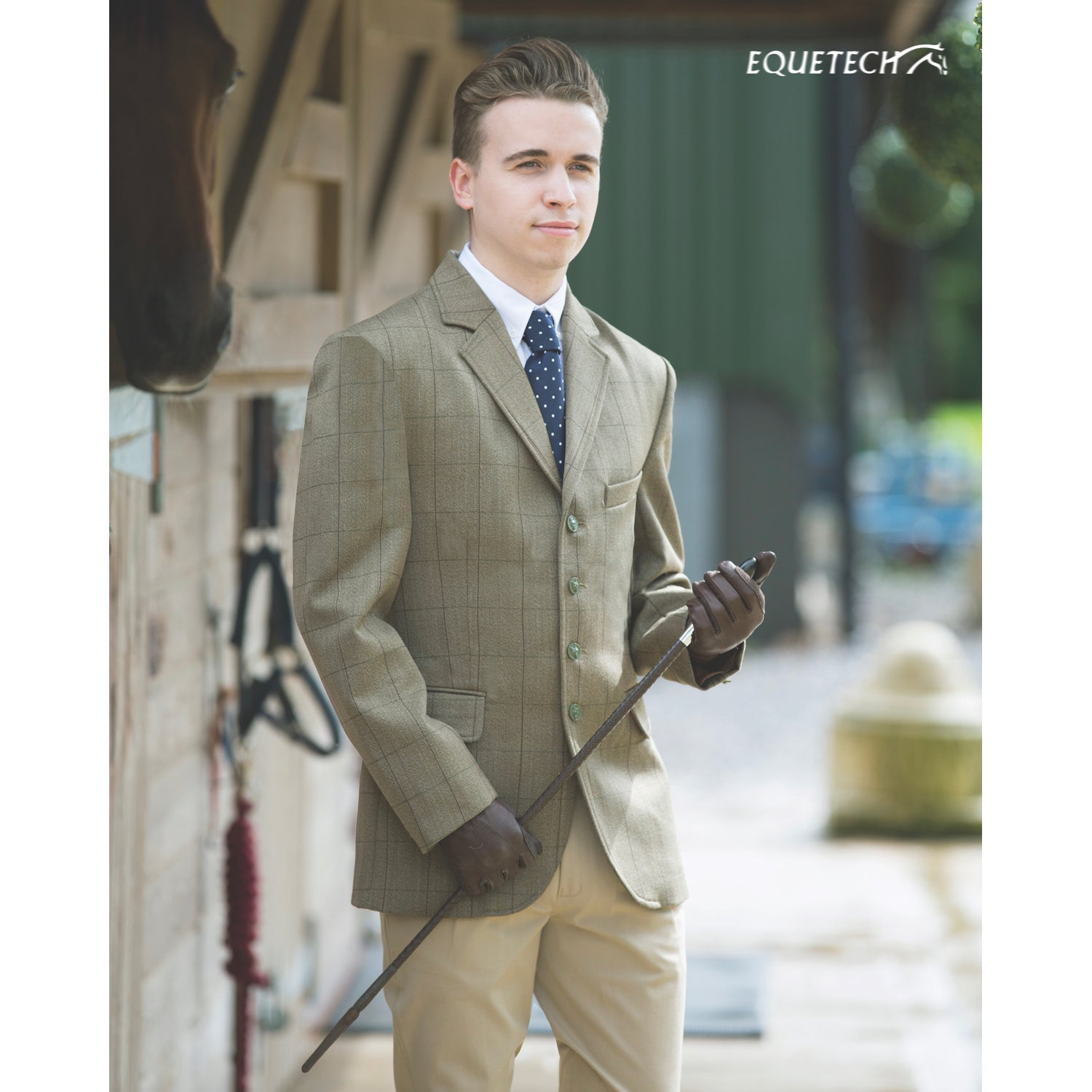 Boys Foxbury Tweed Riding Jacket