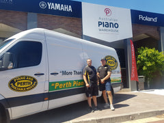 Butch and Brad owners of The Cue Shop and Perth Piano and Pool Table Movers