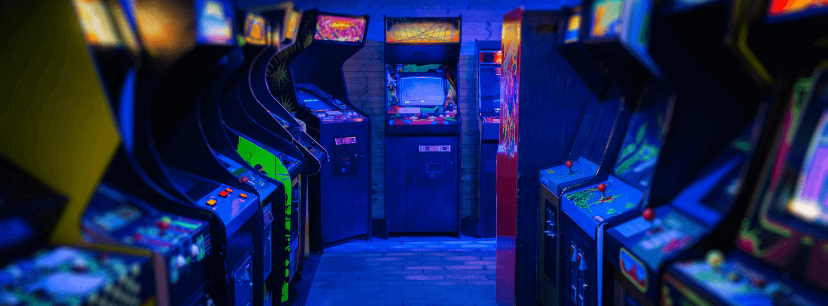 Retro arcade machines with most popular games like pacman, galaga, donkey kong and many more.