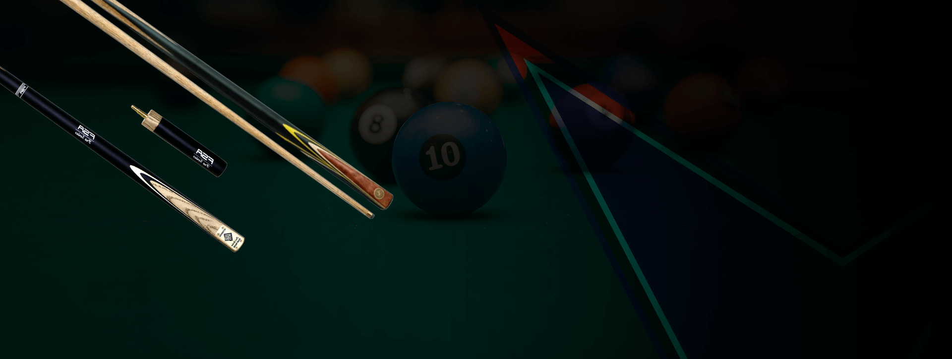 The cue shop has the biggest range of pool snooker billiard cues, cue cases, cue accessories