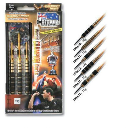 Tony David black brass darts