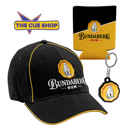Bundaberg Gift set with hat, keyring and stubby holder