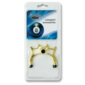 Brass bridge rest for pool and snooker cues
