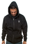 Lucky 13 Death or Glory Hoody from the front on model