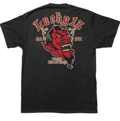 Lucky 13 Grease Gas and Glory mens short sleeve tee back