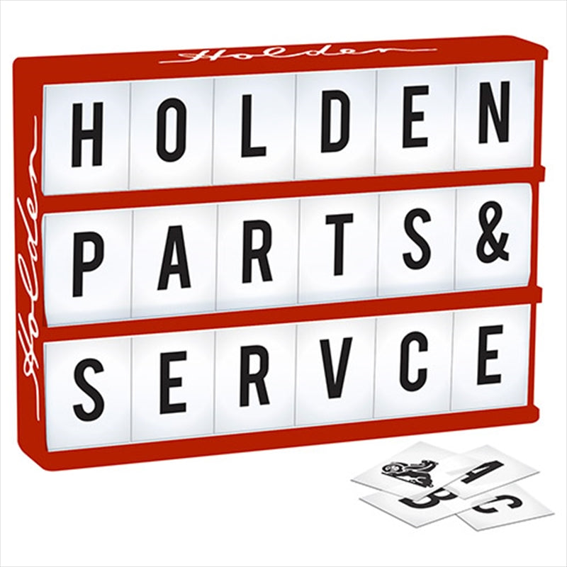 HOLDEN Light Up Box Sign - Comes with 85 Letters and Holden Symbols
