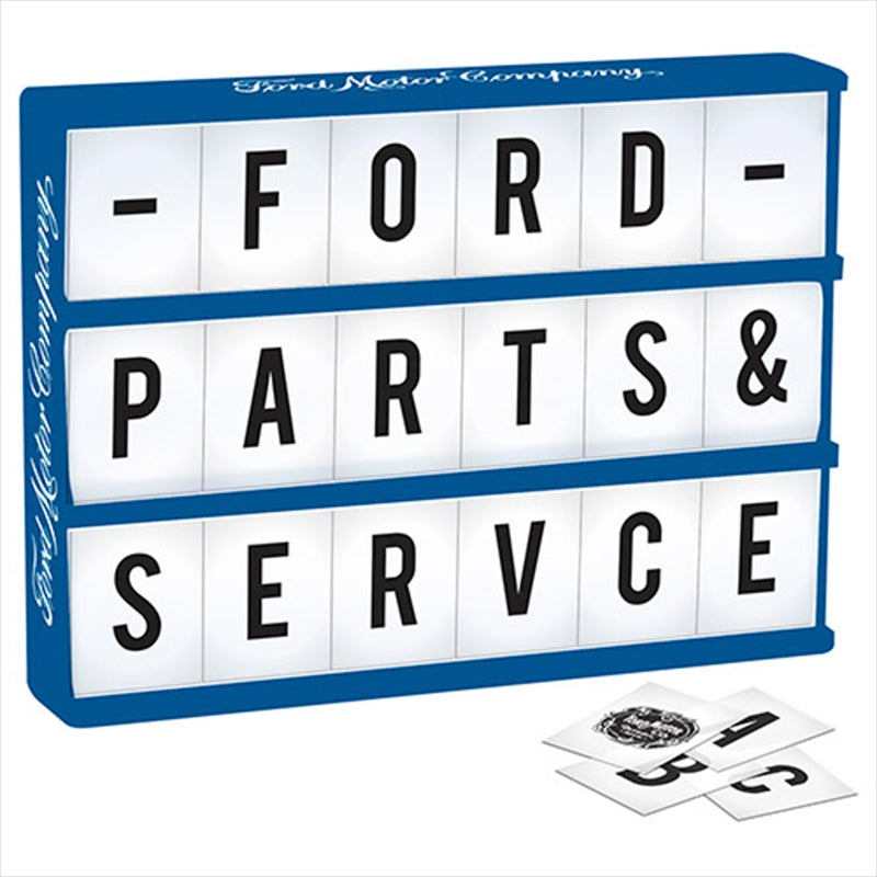 FORD Light Up Box Sign - Comes with 85 Letters and Ford Symbols