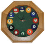 Pool Ball Hexagonal Clock