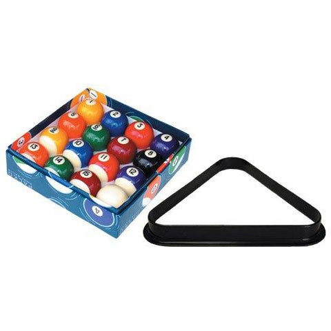 A-Quality Pool Balls & Triangle Set