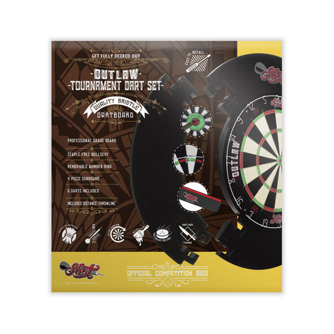 Outlaw Dart Board Tournament Set