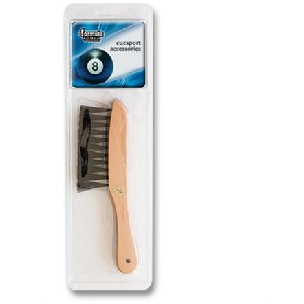 Rail brush for pool table cushions
