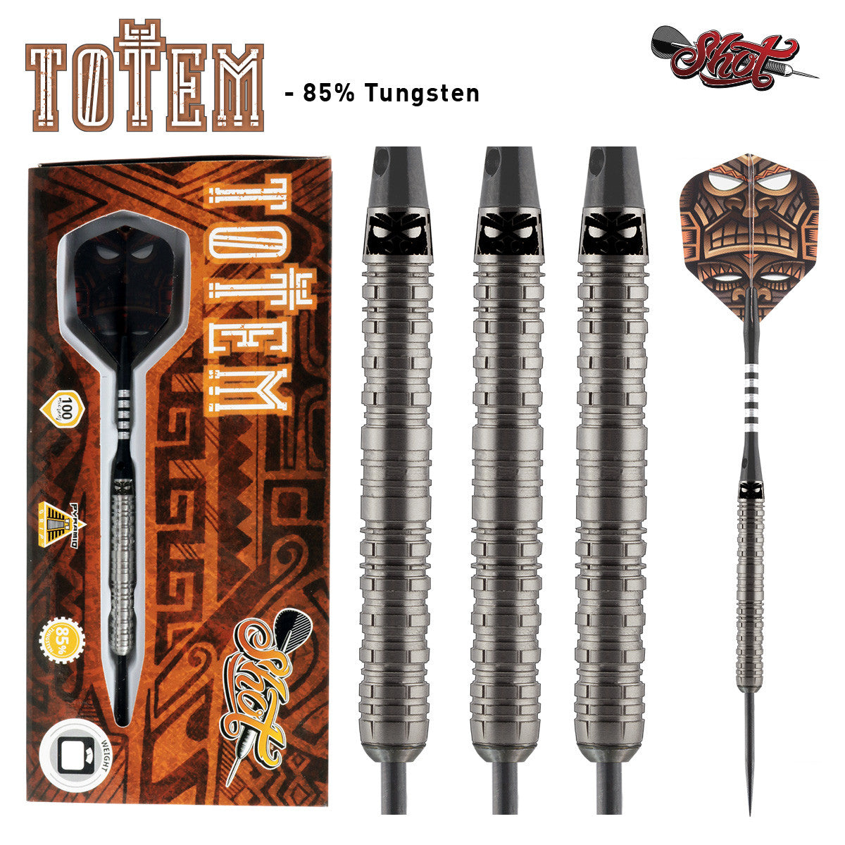 Totem 2 Series Steel Tip Darts 85% Tungsten