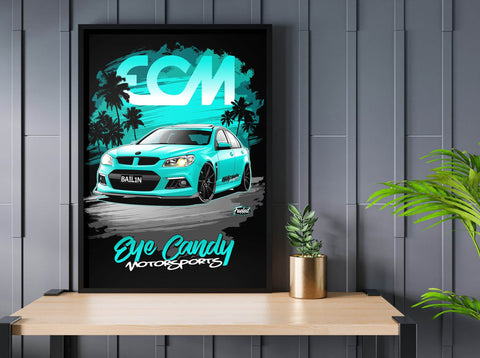 HSV VF Clubsport Blue Digital Artwork