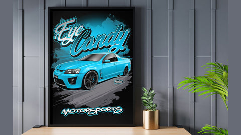 HSV Maloo Blue Digital Artwork