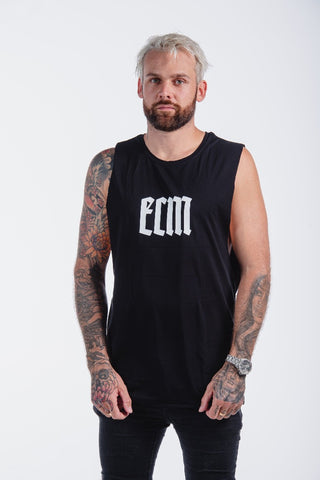 ECM Staple Muscle Singlet Black/White
