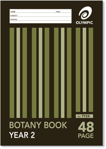 A4 BOTANY Book - Year 2 (Qld Ruled) - 48 Page