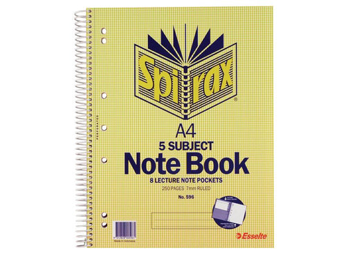 5 Subject Notebook A4