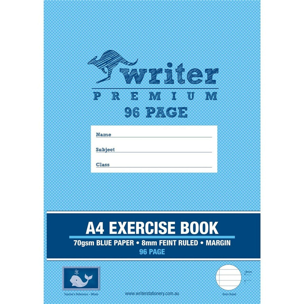 A4 Exercise Book - 96 Page - Writer Premium