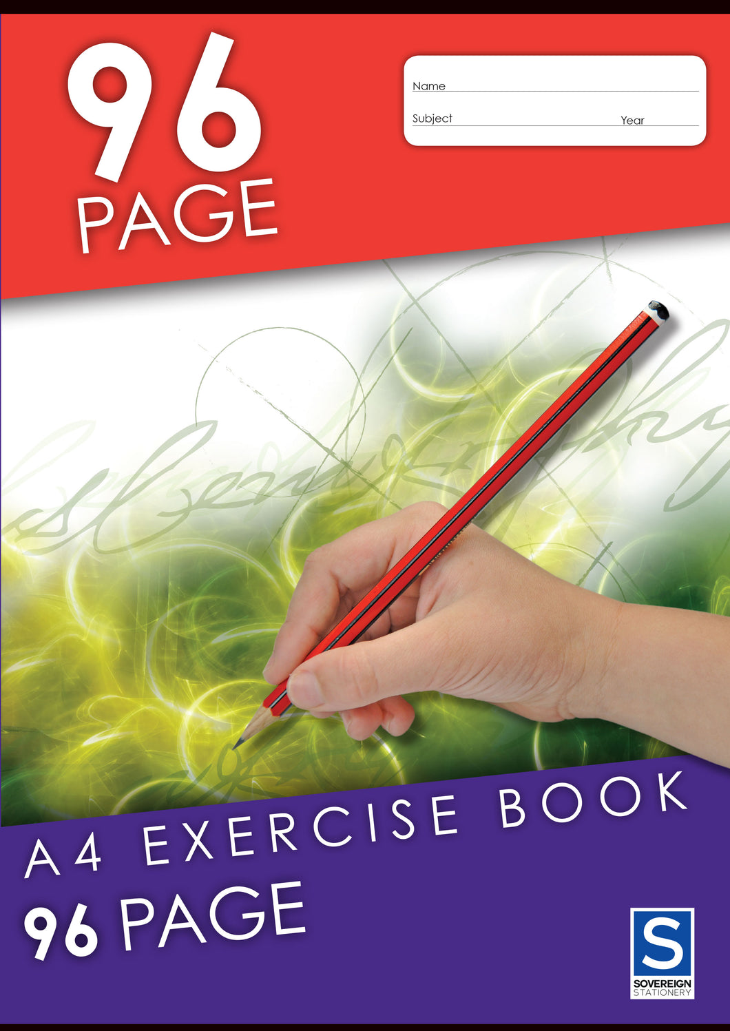 A4 Exercise Book - 96 Page - with Red Margin