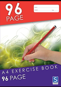10 CORE : A4 Exercise Book - 96 Page - with Red Margin