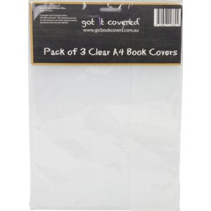 Book Cover - Clear SB (pack of 3)