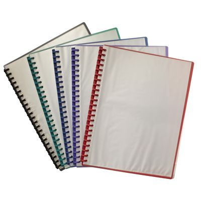 A4 CLEARFRONT Display Book - Refillable GREEN Back