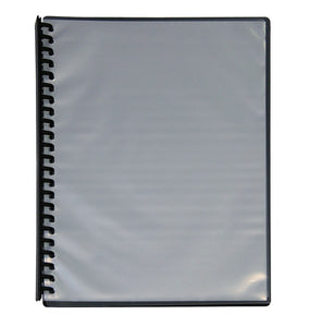 A4 CLEARFRONT Display Book - Refillable - Black Back