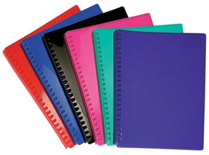A4 Refillable Display Book - 20 Pockets - Assorted Colours