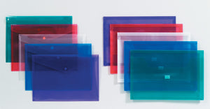 Plastic Document Wallet - F/C (Asstd Colours)