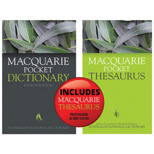 Macquarie Pocket Dictionary 4th Ed + Bonus Pocket Thesaurus