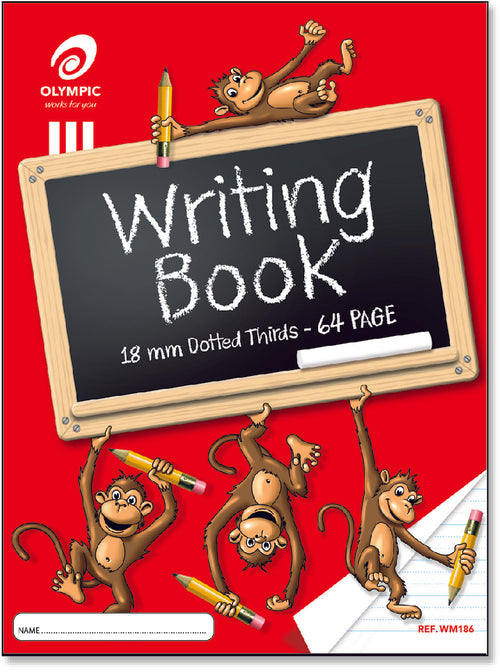 Monkey Writing Book - 18mm Dotted Thirds - 64 page