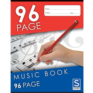 Music Exercise Book - Feint & Staved (9x7)